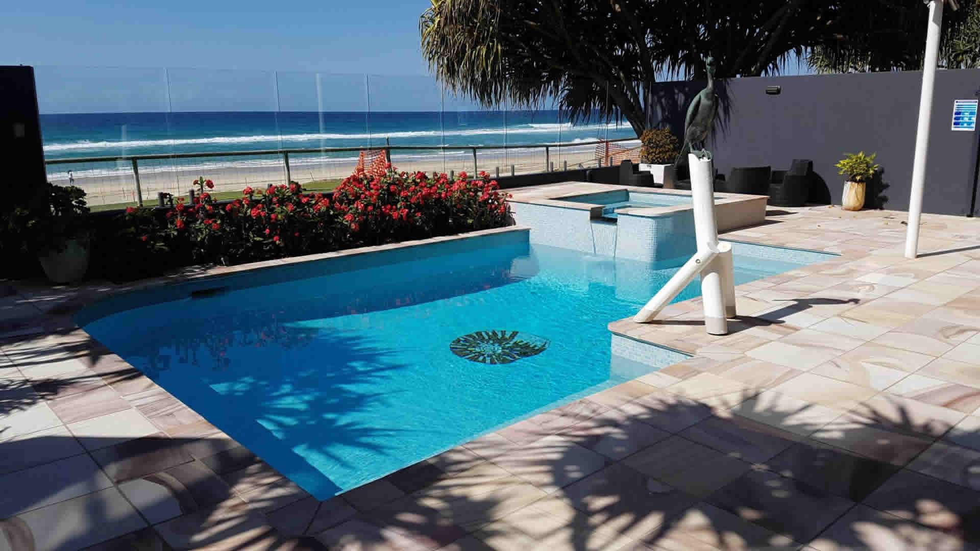 pool at beach